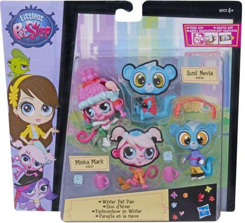 Hasbro Littlest Pet Shop Modne Zwierzaki - Winter Pet Pair (B0923)