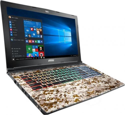 Laptop MSI GE62 7RE(Camo Squad)-1039PL 32 GB RAM/ 256 GB M.2 PCIe/ 1TB HDD/ Windows 10 Home PL