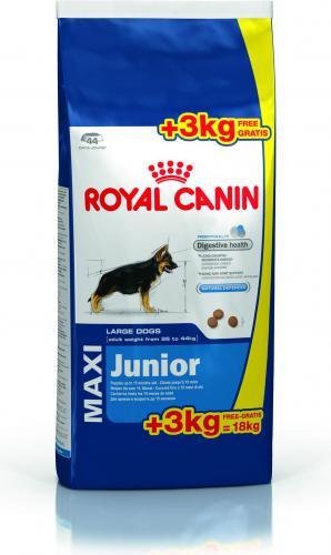 royal canin maxi junior 15 kg 3 kg w. Black Bedroom Furniture Sets. Home Design Ideas