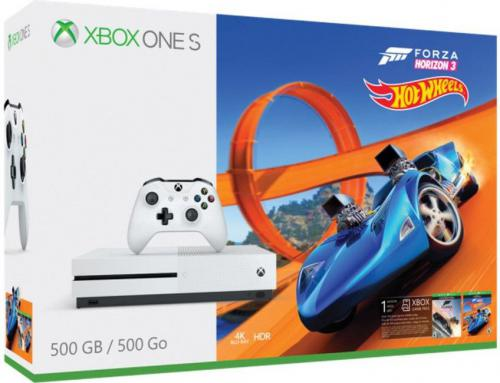 Konsola Microsoft Xbox One S 500 GB + Forza Horizon 3 + Hot Wheels (ZQ9-00210)