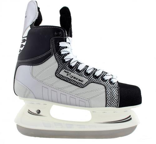 NILS Extreme Łyżwy Hokejowe Nils Extreme  S Black/Grey Rozmiar 39 (NH8552)
