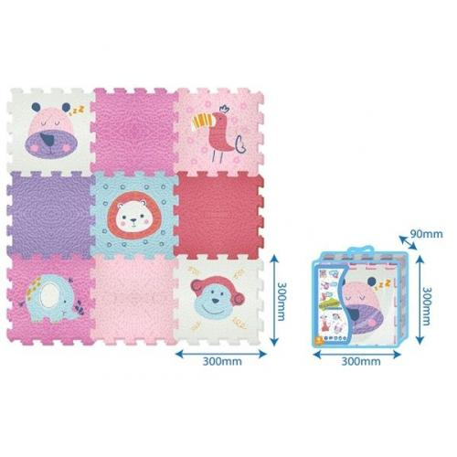 MADEJ Mata piankowa - Puzzle Animals 9 el. 30cm x 30cm x 1cm