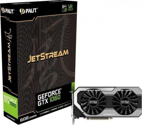 Karta graficzna Palit GeForce GTX 1060 JetStream 6GB GDDR5 (192 Bit) DVI, HDMI, 3xDP, BOX (NE51060015J9J)