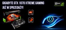 Już dostępna karta graficzna XTREME GAMING GTX1070 GIGABYTE
