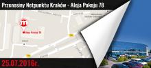 Przenosiny Netpunktu Kraków - Aleja Pokoju 78