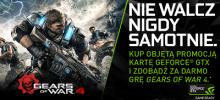 Kup Kartę GeForce GTX 1080 lub 1070 lub laptop z tą kartą i odbierz GEARS OF WAR 4 GRATIS
