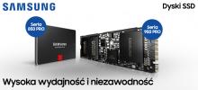 Profesjonalna wydajność z dyskami SSD SAMSUNG