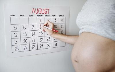 Dziecko mierzy 2 tygodnie za datą skanowania