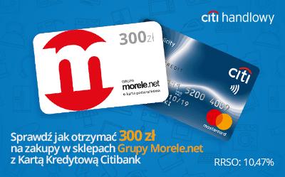 Zamów Kartę Kredytową Citibank i zdobądź voucher 300 zł do morele.net.